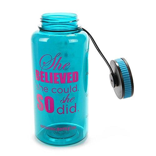 Aqua Large Motivational Bottle®