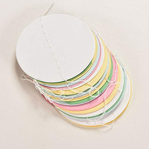 Disc Party - 2016 Romantic Holiday Party Wedding Room Classroom Decor Wall Decorations Long Paper Garland - Decoration Disc Party Party Decorations Cotton Ball Classroom Wall Globe String Po
