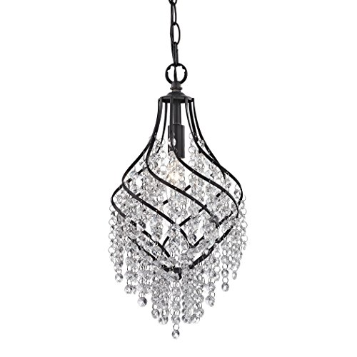 Sterling Crystal Drop Pendant ()