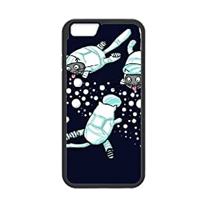 iPhone 6 Plus 5.5 Inch Cell Phone Case Black CATS ASTRONAUTS SU4417105