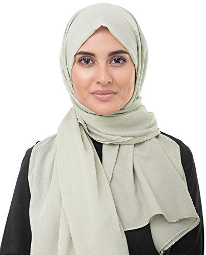 InEssence Nomad Beige Cotton Voile Scarf Women Girls Wrap Medium Size (Cotton Voile Wrap)