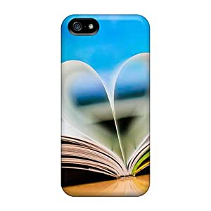 Flexible Tpu Back Case Cover For Iphone 5/5s - Love Book Wallpaper