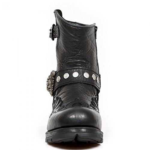 Nieuwe Rock Handgemaakte M Mr041 C7 Zwarte Mannen Laarzen