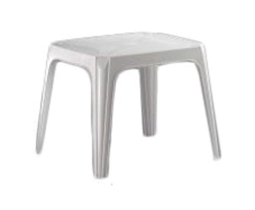 Tavolino in plastica color bianco per bambini