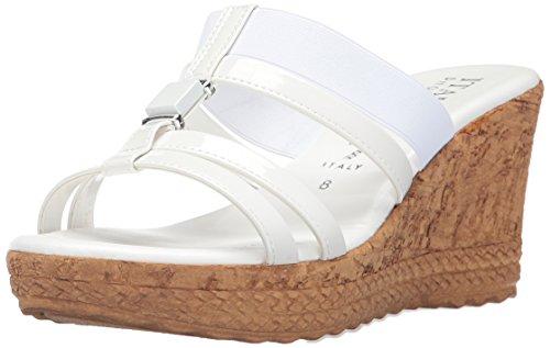 White Italian Shoes (Italian Shoemakers Women's 5670S7 Sandal, White, 8 M US)