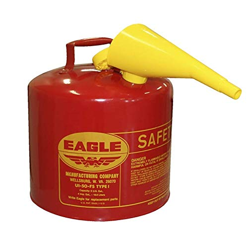 Eagle Ui-50-Fs Red Galvanized Steel Type I Gasoline Safety Can