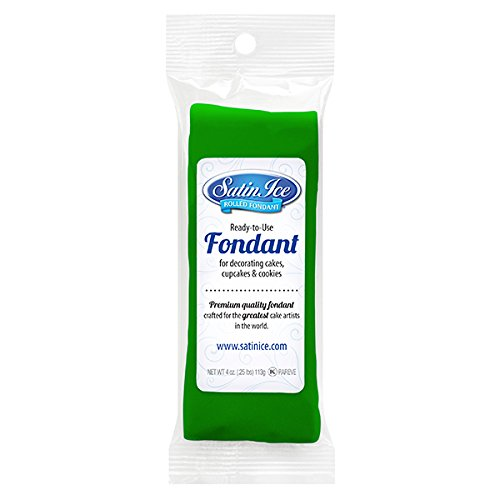 Satin Ice Rolled Fondant Icing Green 4 Ounces
