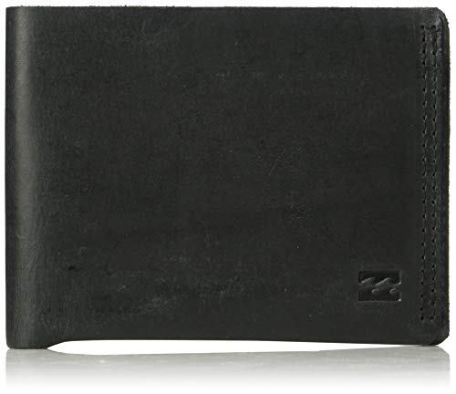 Billabong Men's All Day Leather Wallet Black One Size