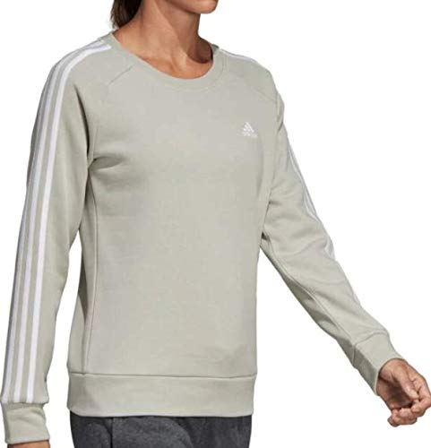 adidas Women's Essentials 3-Stripes Crewneck Sweatshirt (S, Ash Silver) by adidas (Image #3)
