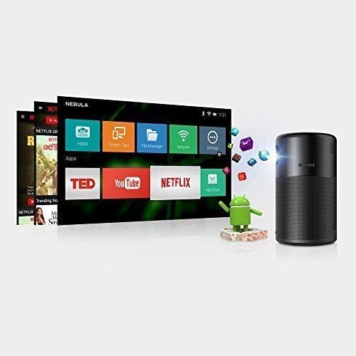General/überholt / Smarter Tragbarer Projektor mit Wi-Fi Pico 360/°Lautsprecher f/ür Android 7.1 4 Stunden Akkulaufzeit Nebula Capsule Beamer von Anker mit zugeh/öriger App