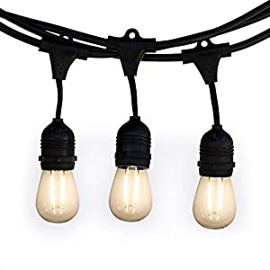 Low E LED Outdoor String Lights Weatherproof Commercial