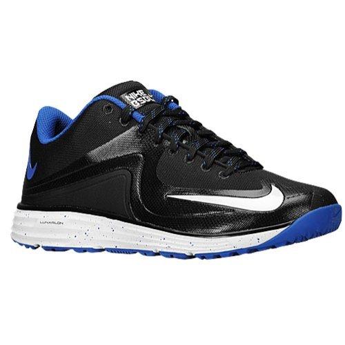 Nike Men's Lunar MVP Pregame 2 Baseball Training Shoe Black/Rush Blue Size 11.5 M US