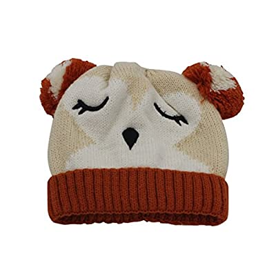 fad9c692ea2ea ArMordy(TM) New Cute Children Winter Hat Cartoon Plush Lining Knitted Baby  Hat with