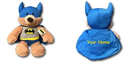 GUND Personalized Fuzzy Bear in DC Comics Superhero Batman Costume Plush Stuffed Animal Toy - 14 Inches]()