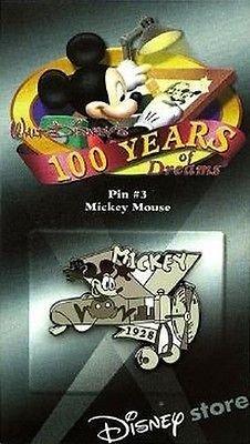 (Disney 100 Years of Dreams Pin #3 Mickey Mouse Pin)