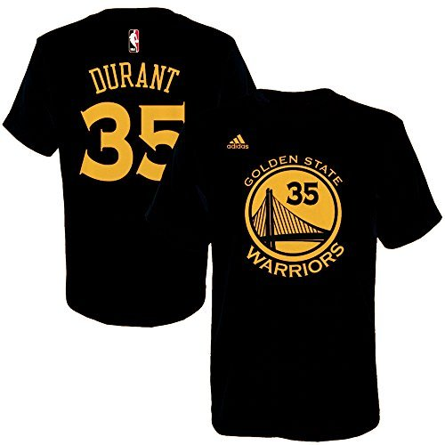 Kevin Durant Youth Golden State Warriors Black Name and Number Jersey T-shirt Large 14-16 …