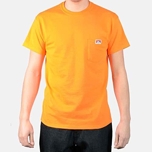 Ben Davis Men's Short Sleeve Heavyweight Pocket T-Shirt Orange