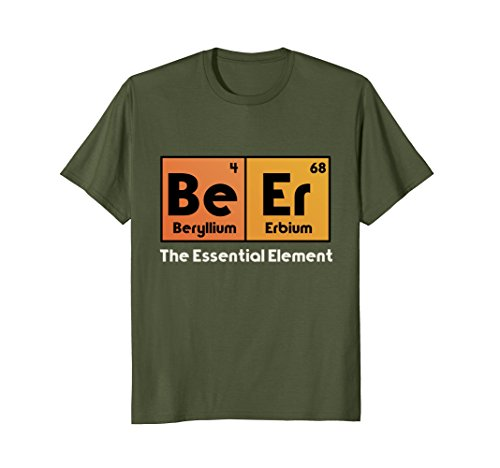 Mens Beer Periodic Table Of Elements Funny Drunk Drinking T-Shirt Large - Table Beer Table Beer