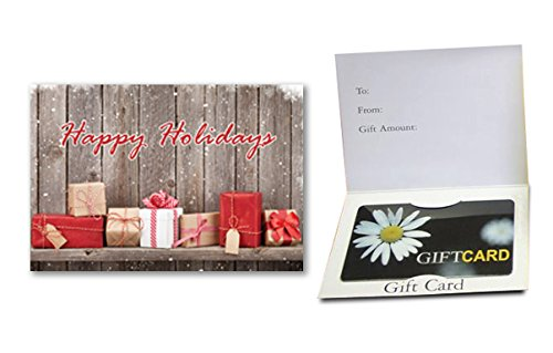 Happy Holidays (Presents) Gift Card Holder (100 pack)