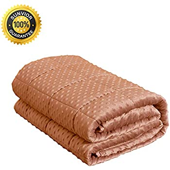 SUNVIOR Weighted Blanket & Heavy Blanket Cotton and Flannelette Material with Glass Beads (59