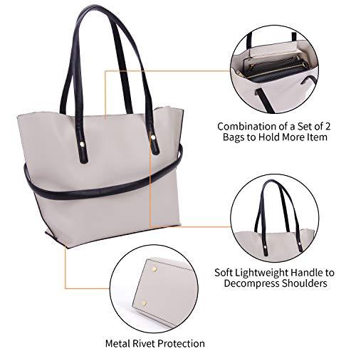 Paco Collection Tora Donna Impermeabile Capacità Borsetta Tote Pu White Grande Shopper Messenger Borsa Bag blue Cuoio Tracolla 66qrd1w