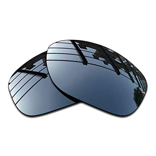 SEEABLE Premium Polarized Mirror Replacement Lenses for Oakley Pit Bull OO9127 Sunglasses - Black Chrome ()