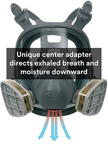 3M Full Facepiece Reusable Respirator 6800, Paint Vapors, Dust, Mold, Chemicals, Medium