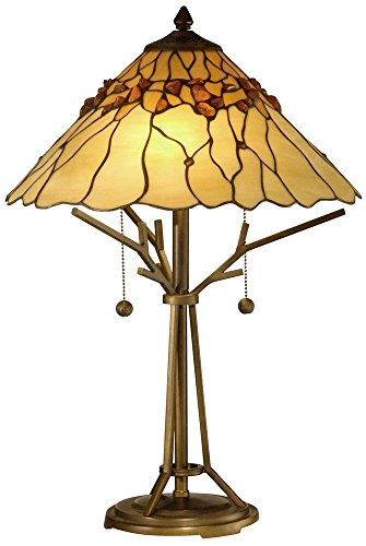 Dale Tiffany Antique Table Lamp - Dale Tiffany TT10598 Branch Base Tiffany Table Lamp, Antique 16