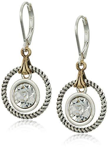 Napier Women's Silver-Tone Swarovski Crystal Drop Earrings