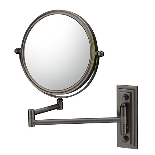 Kimball & Young 20815 Classic Double Arm Wall Mirror, 1X and 5X Magnification, Italian Bronze