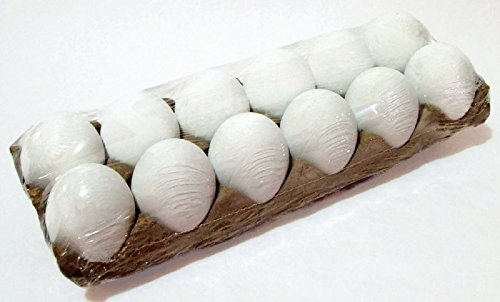 White Realistic Chicken Eggs For Crafting And Decor
