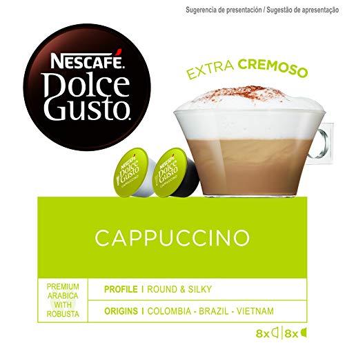NESCAFÉ Dolce Gusto Café Cappuccino, Pack de 3 x 16 Cápsulas – Total: 48 Cápsulas de Café