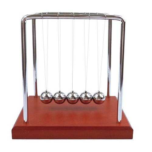 Westminister Inc. – Newton's Cradle Balancing Balls Science in Motion Wood Grain by Westminster