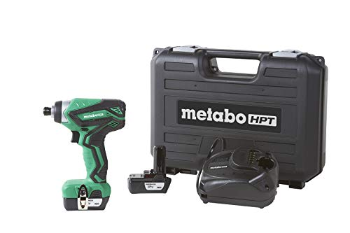 Metabo HPT WH10DFL2 12V Peak Cordless Impact Driver Kit, Includes 2-12V Lithium Ion Batteries, 25-Min Quick Charger, 2 Driver Bit, Carrying Case, 955 in/lbs Driving Torque