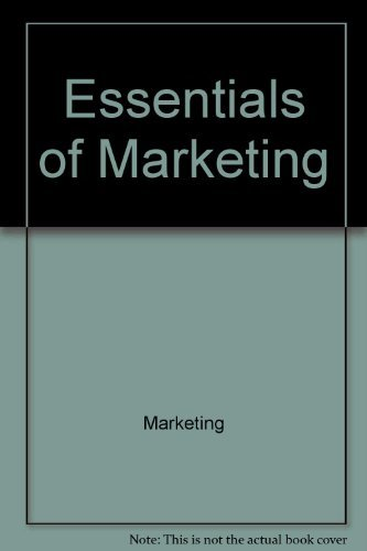 Essentials of marketing (The Irwin series in marketing)