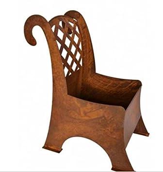 Edelrost Stuhl Zum Bepflanzen 35 X 71cm Amazon De Garten