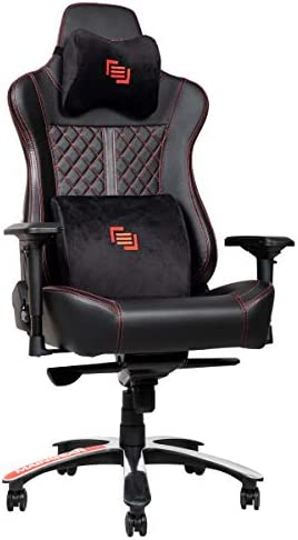 MAINGEAR Gaming Chair Forma GT Nero Ergonomic Racing Recliner with 5-Year Warranty, Black Red