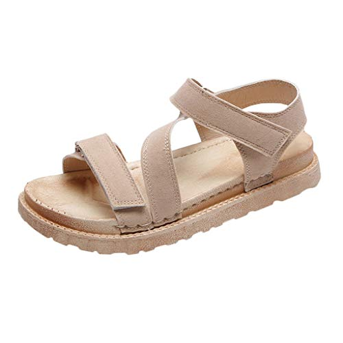 MmNote Women Shoes, Young Womens Outdoor Leisure Comfortable Breathable Stylish Trendy Durable Elegant Sandal Beige
