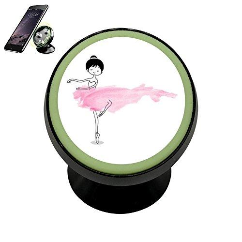Cacapi Magnetic Car Mount Holder, Universal Mobile Phone Holder For Car, Cute Little Ballerina 360 Degree Rotation Magnetic Phone Holder, Noctilucent Function Universal Ballerina