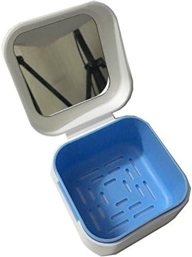 Estuche para dentaduras postizas Medokare, recipiente para dentaduras postizas con tapa, recipiente para guardar dentaduras postizas, recipiente para limpiar el baño de dentaduras postizas.: Amazon.es: Salud y cuidado personal
