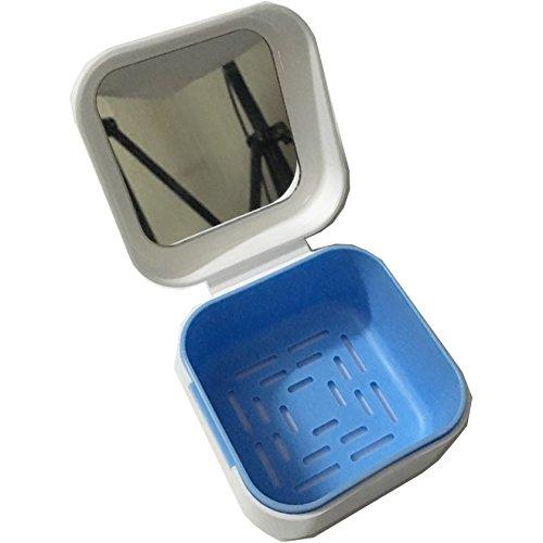 Denture Case with Strainer  Medokare Denture Cup with Lid and Mirror Dentures Box Dental Retainer
