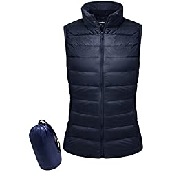 Yidarton Women Down Vest Packable Lightweight Outerwear Coat Jacket Puffer Vests(na+l)