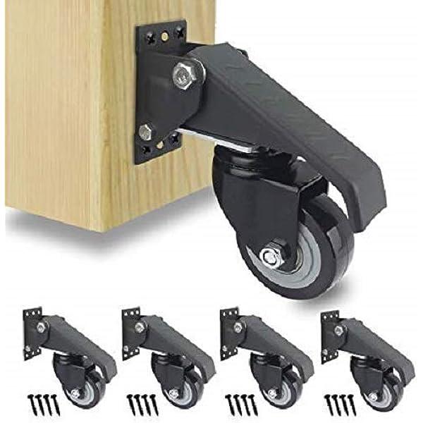 Nylon Castors Wheels Rubber Base Industrial Castors M8//M12//M14 Set of 4 Outech Caster Heavy Duty Workbench Caster