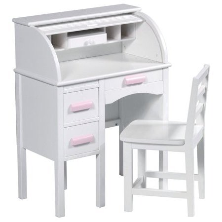 Kids Desk, Organizer - with Chair, Roll Top, Wood, (Childrens Roll Top Desk)