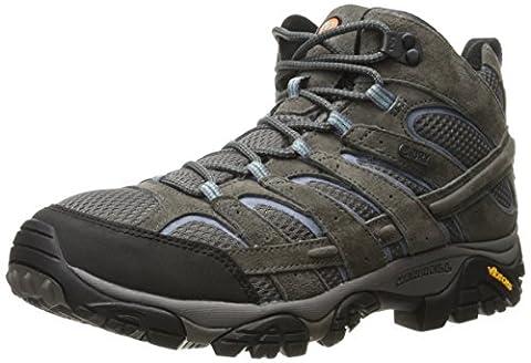 Merrell Women's Moab 2 Mid Waterproof Hiking Boot, Granite, 9.5 M US - Leather Mid Waterproof Boot