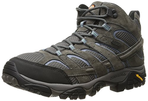 Merrell Women's Moab 2 Mid Waterproof Hiking Boot, Granite, 8 M US