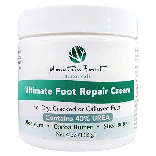 Urea 40% Ultimate Foot Repair Cream & Cracked Heel Treatment | Corn & Callus Remover w/Fresh Scent Aloe Vera, Cocoa & Shea Butter Moisturizer | Dry Feet Healing for No-Crack, -
