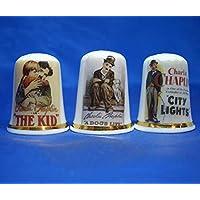 Juego de Tres dedales de Porcelana China, diseño