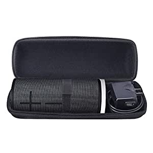 Esimen Hard Carrying Case for Ultimate Ears Boom 3 Portable Bluetooth Wireless Speaker,Fit for UE Power Up Charging Dock Carry Cover Bag Protective Box (Black)