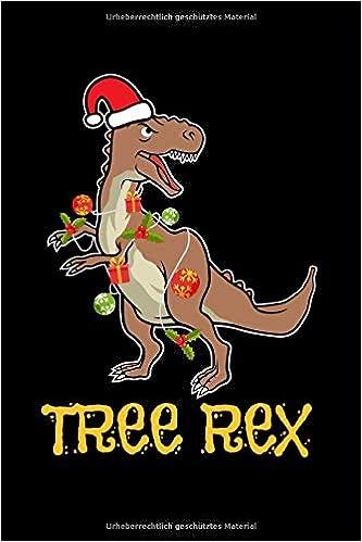 Notizbuch T Rex Baum Weihnachten Dino Lustig Kinder